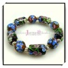 Hot Selling Flower Glass Bead Lampwork Bracelet
