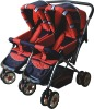 2012 new style High quality modern red twins baby stroller & baby pram & baby cart