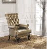 genuine leather gold chair/leisure leather chair/sigle leather leisure chair/leather furniture