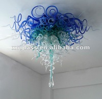 crystal art ceiling lamp xo-2012007 and hand blown glass ceiling lamp