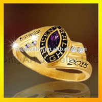 925 silver classic university ring with CZ 3D design ring