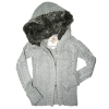 [LEAP]Girl's sweater with fur lining hoodie(Child garment,child wear)