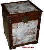 Bedside table (wooden furniture)(wooden trunk)Square Trunk
