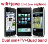 F003 quad band dual sim tv mobile phone with wifi