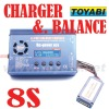 lipo battery balancing charger, 8S Digital Charger for RC Model Accessory Charger and Balance