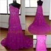 One-shoulder Floor-length Wedding Dress SW005