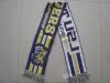 100% acrylic jacquard woven football scarf