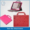 Lopez Cute cartoon Leather smart PU case for iPad 2, 100% new brand!!