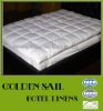 luxury 5 star hotel down mattress pad, duck down filling