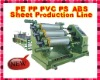 2000 5000mm PP,PE,PVC.PS,ABS sheet extrusion production line