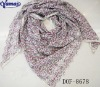 Fashion Flower+lace new scarf