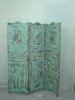 distressed wooden screen