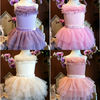 Lovely Tulle Tiered Mini Short Strapless Flower Girl Gown Wedding Dress