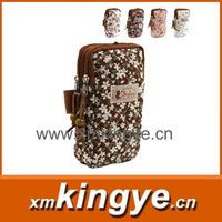 Lovely female double mobile phone bag