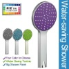 ABS Plastic Colored Panel Water Saving Bubble Spray Handheld Shower Head