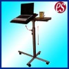 Multi-function adjustable mobile wooden laptop desk