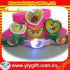 2012 hot sale and new flashing led Silicone Wristband with heart for valentine day