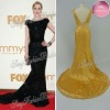 Bateall A-line Floor length ruffle waist lace girls party celebrity dress evening dresses new fashion 2012