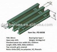 fiberglass pultrusion grating, I-bar 38mm, 60% open rate