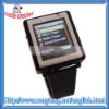 Black AK810 Tri-Band Bluetooth Touch Screen Watch Cell Phone