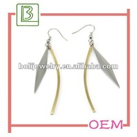 Fashion Leaf Metal Earrings with Charms