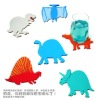 Cute design skidproof cup mat , plastic gift placemat