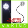 For Laptop PC Notebook USB New Metal Tube Material Flexible usb 12 LED Light