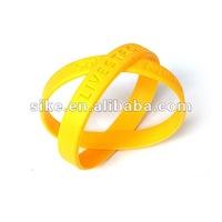 Debossed logo silicone wristband