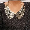 Fashion jewelry collar neckalce hollow-out flower alloy choker necklace