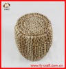 Modern handmade woven outdoor mall straw stool
