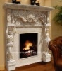 morden white marble fireplace mantel