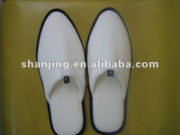 2012 white cotton hotel slipper