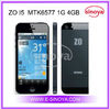 zophone I5 Phone celular for 4inch MTK6577 android 4.1 Single SIM Card Dual Core