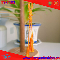 royal yellow cord polyester nylon tassel fringe for sale