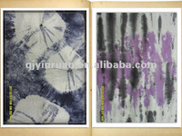 100% cotton ticking fabric for bed sheets garment providing tie-dyeing and spraying