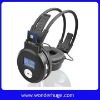 MP3 headphones with memory card and display