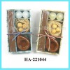 votive candle with incense sticks gift set