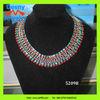 2012 women new latest classy fashion women costume jewelry pave vivid rhinestone chunky statement necklace