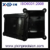 customized precision black PC+UV injection moulds parts factory services