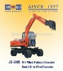 Factory Direct! JG608S 6 ton 47KW Double drived wheel excavator