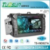 car dvd 2 din for TOYOTA COROLLA with 8 -inch TFT Touch Screen