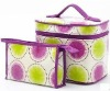 300D Polyester laminated cosmetic bag sets with two pieces