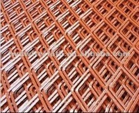 Red color spray expended metal mesh fence popular sale