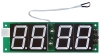 1.5 inch 4 digit small LED clock circuit module with temperature display