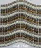Beautiful,elegant new mosaic:glass mosaic,metal mosaic,Wave 2 Matt