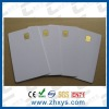 white PVC card with SEL 4442 chip contact IC card , contact smart card