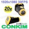 CONKIM Waterproof Extreme Sport Camera HD 20M Underwater With Laser Light