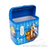 Tinplate Cartoon Small Household Trash Can