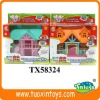 Plastic doll house toys
