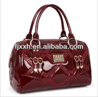 Bright new trend pu handbag fashional
